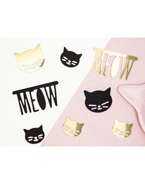 8 elementos decorativos de gatos variados para mesa - Meow Party