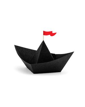 סט 6 קישוטי ספינת פיראטים טבלה - מפלגת הפיראטים