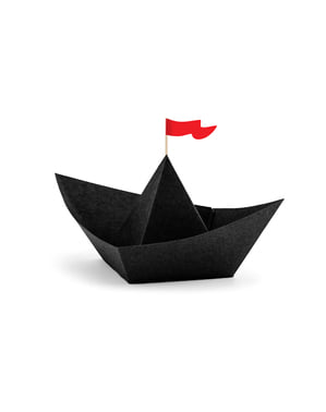 Zestaw 6 dekoracja stołu statek piracki - Pirate Party