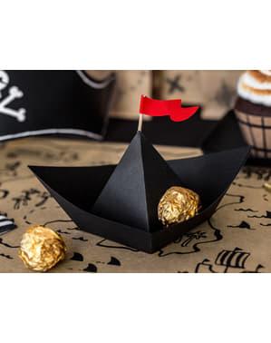 Комплект от 6 пиратски корабни декорации за маса - пиратско парти