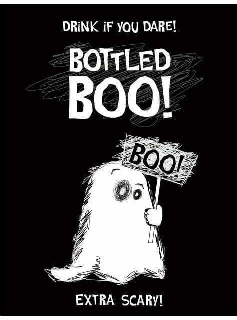 10 adesivi di fantasmi per bottiglie - Halloween