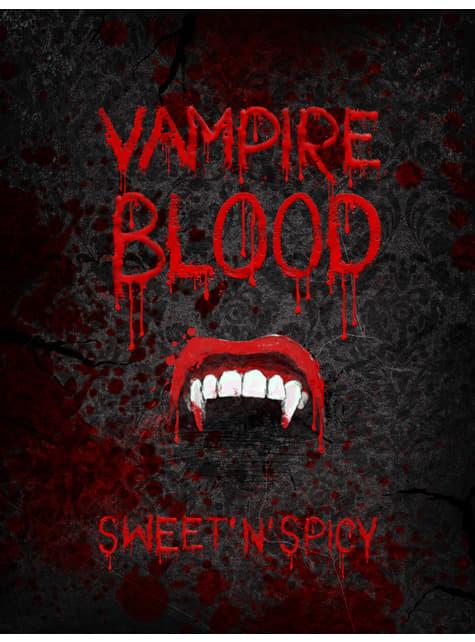 10 pegatinas de vampiro para botellas - Halloween