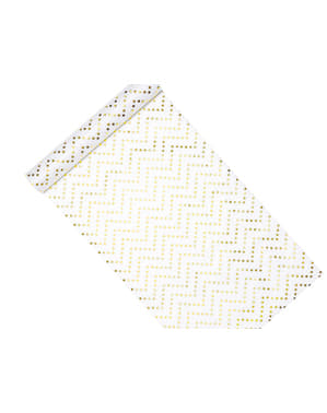 Chevron Stars Table Runner, Gold - Printed Fabrics