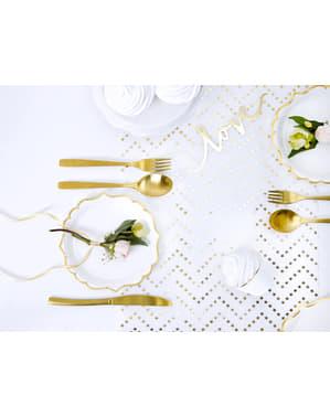 Złoty bieżnik stołowy zygzaki gwiazdki - Printed Fabrics