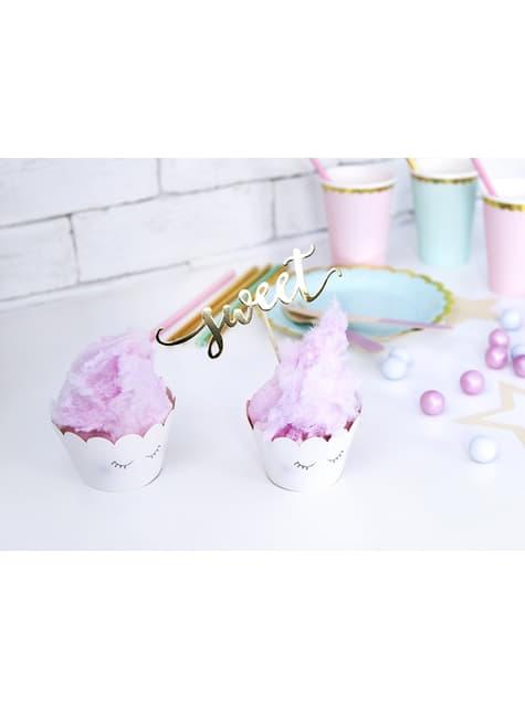6 bases para cupcakes variadas en tonos pastel - Unicorn Collection
