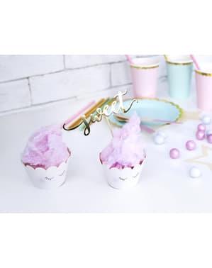 6 cupcake formar i olika pastellfärger - Unicorn Collection