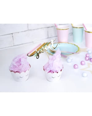 6 Muffinforme i Forskellige Pasteller - Unicorn Collection