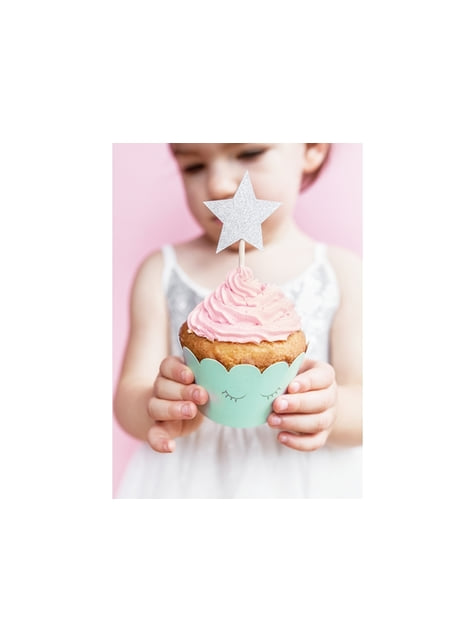 6 bases para cupcakes variadas en tonos pastel - Unicorn Collection - barato