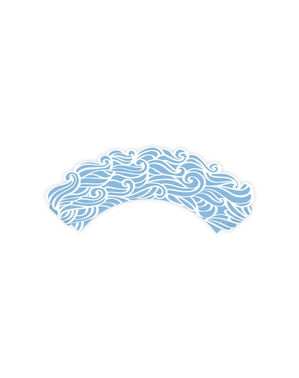 6 forme pentru cupcakes detalii marine albastru de hârtie - Ahoy! Collection