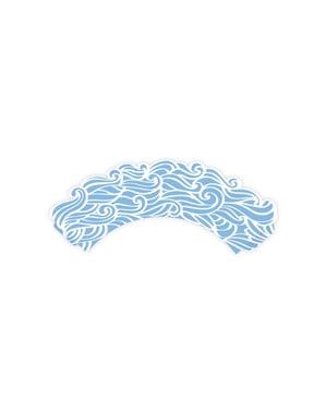 6 zeevaart cupcake papiertjes, blauw - Ahoy!