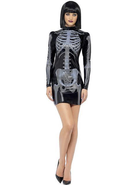 Disfraz de esqueleto Fever ajustado para mujer