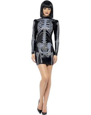 Strój szkielet Fever dopasowany damski