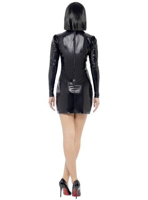Disfraz de esqueleto Fever ajustado para mujer - original