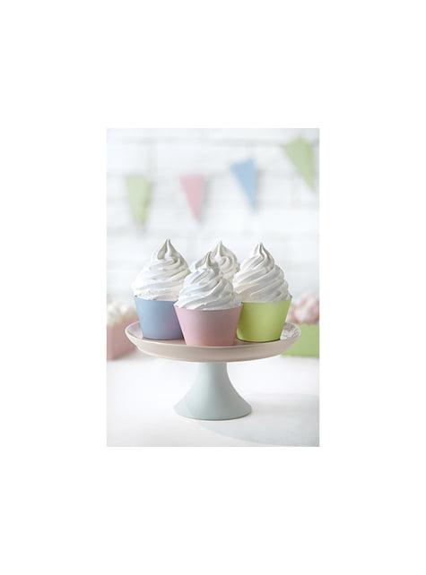 6 cápsulas para cupcakes tonos pastel de papel - Pastelove - barato