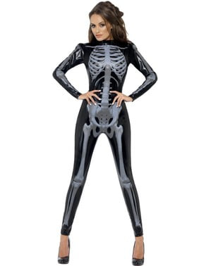 Ganzkörperanzug Skelett für Damen Fever