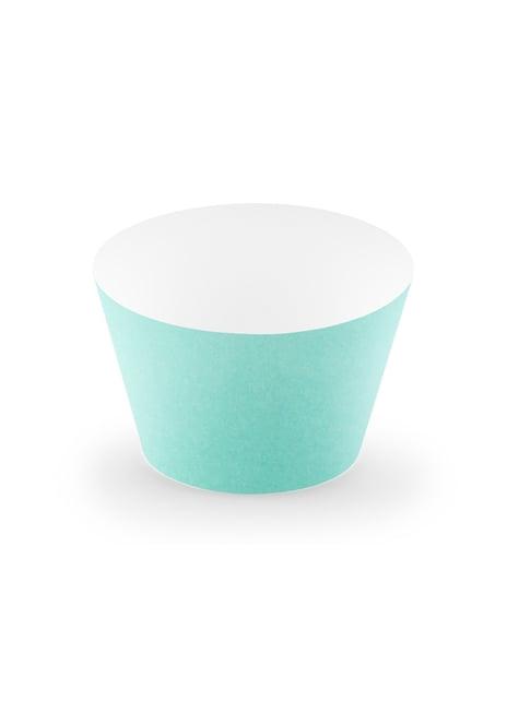 6 cupcakes azul turquesa - Aloha Turquoise
