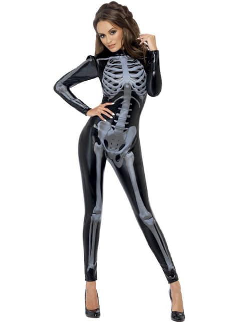 Disfraz de esqueleto Fever segunda piel para mujer - mujer