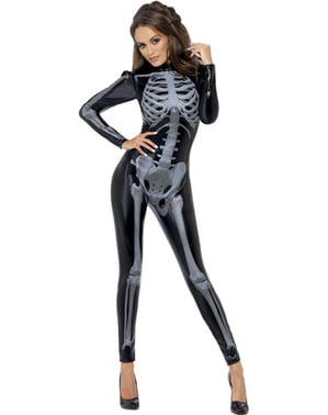 Costum de schelet Fever a doua piele pentru femeie