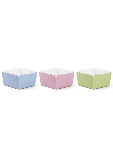 6 scatoline diverse per aperitivo toni -Pastelove