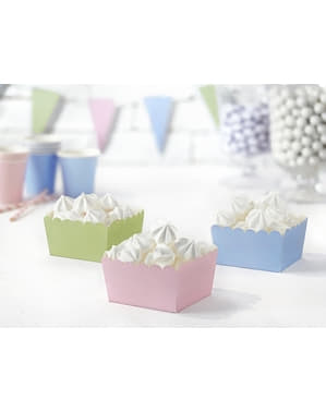6 Paper Treat Boxes in Pastel Shades - Pastelove