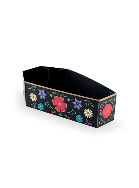 Conjunto de 6 caixinhas com forma de tumba para aperitivos de papel - Dia de Los Muertos Collection