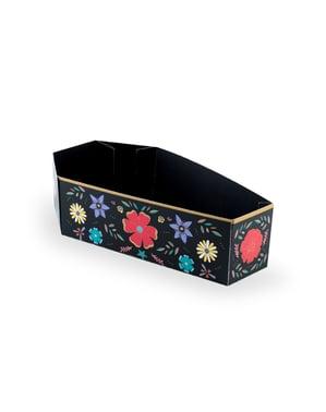 Set 6 papírových krabiček ve tvaru rakve - Dia de Los Muertos Collection
