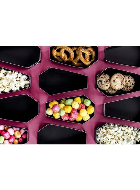 6 cajitas con forma de tumba para aperitivos de papel - Día de Los Muertos Collection - barato