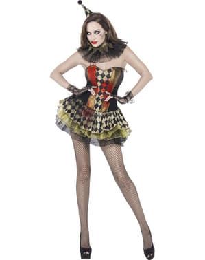 Süße Clownin Zombie Kostüm für Damen Fever