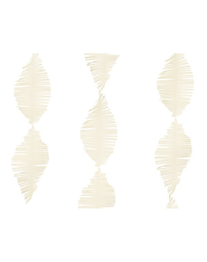Guirnalda beige de papel crepe