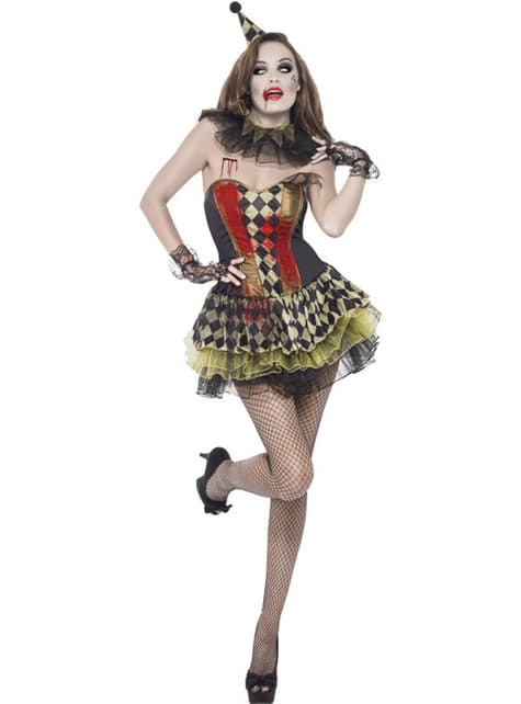 Disfraz de payasita zombie Fever para mujer - mujer