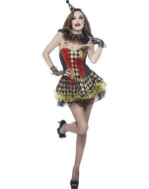 Треска за зомби клоунски костюм за жена