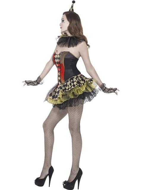 Fato de palhacinha zombie Fever para mulher