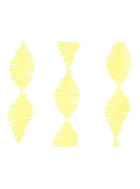 Guirnalda amarilla de papel crepe