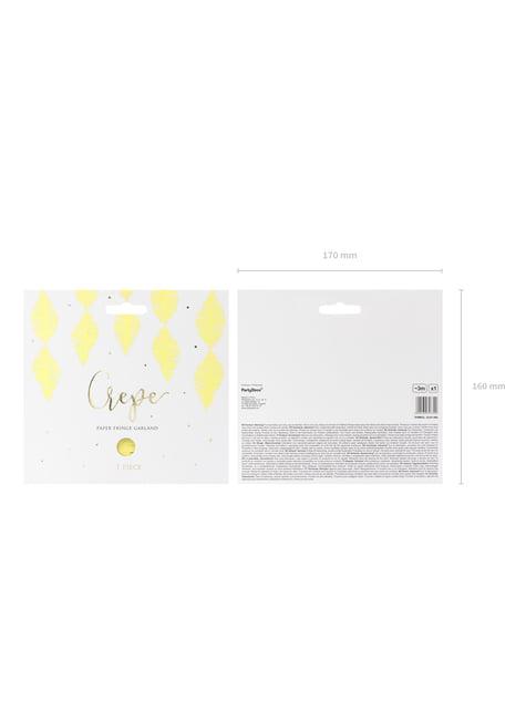 Grinalda amarela de papel crepe