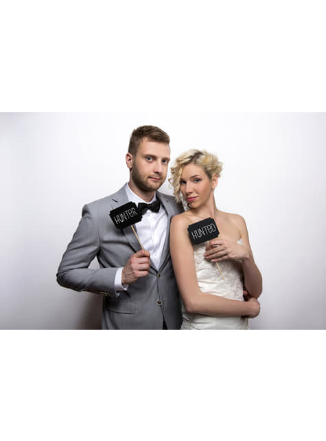 2 Photo Booth Chalkboard Props