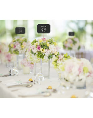 Hochzeitstisch-Schilder Deko Set 4-teilig - Natural Wedding