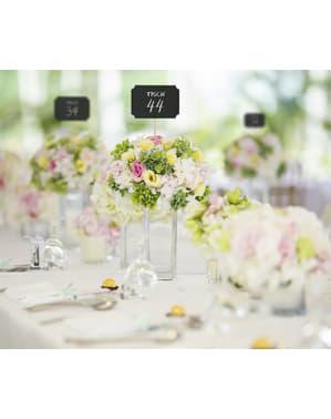 4 dekorativa krittavlor till bordsdukning boda - Natural Wedding