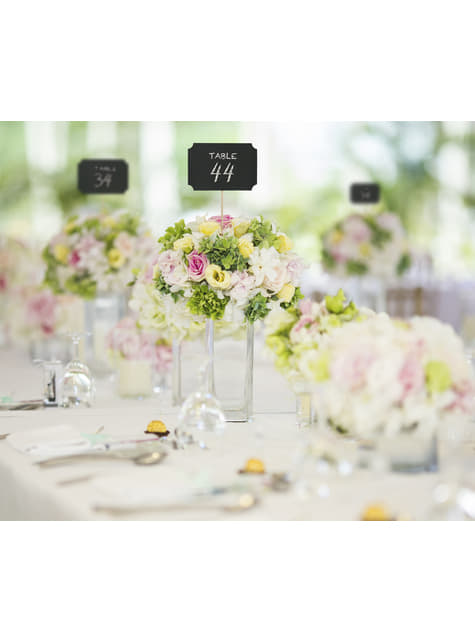Conjunto de 4 pizarras decorativas para mesa de casamento - Natural Wedding