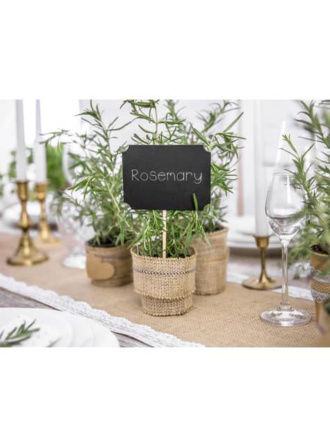 4 marcasitios de pizarras para mesa de boda - Natural Wedding - para niños y adultos
