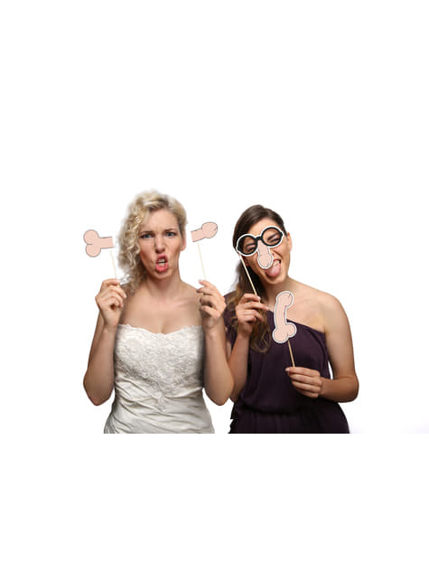 4 Penis Photo Booth Props - Hen Night