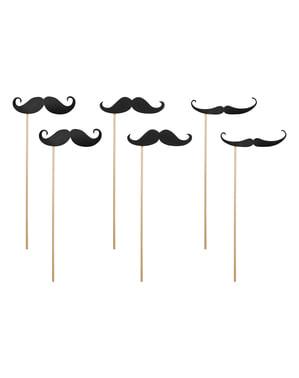 6 accesorios photocall de bigotes