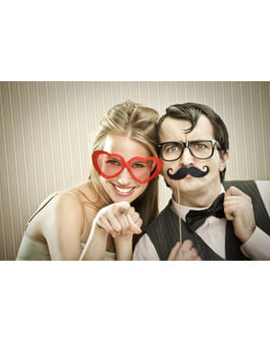 6 Mustache Photo Booth Props