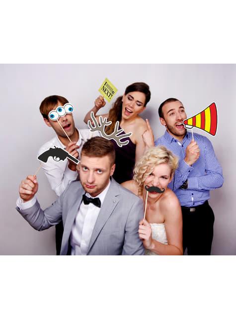 6 moustaches pour photobooth