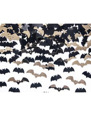 Confettis en forme de chauve-souris noir et doré pour la table - Halloween