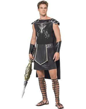 Disfraz de gladiador romano con capa para hombre