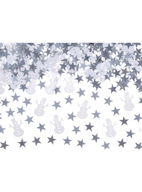 Schneemann und Stern Tischkonfetti - Christmas