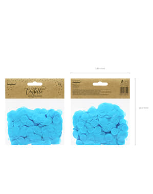 Confeti redondo azul cielo de papel para mesa