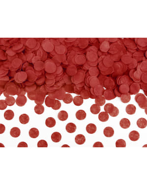 Ronde papieren tafel confetti, rood