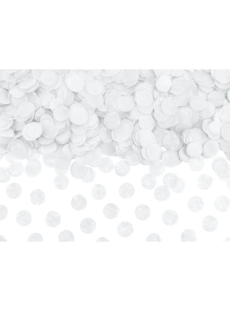 Confeti redondo blanco de papel para mesa