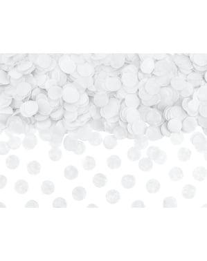Cirkel Papir Bordkonfetti, Hvid